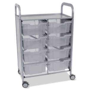 Double Callero Antimicrobial cart and trays