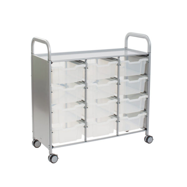 Triple Callero antimicrobial cart 12 Deep F2 translucent